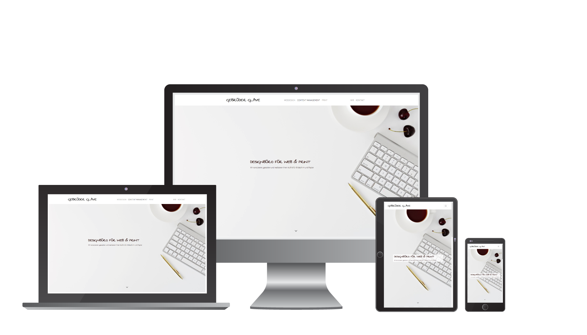 Beispiel Website Programmierung in responsive Design